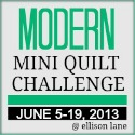 modern mini quilt 2013 button 125