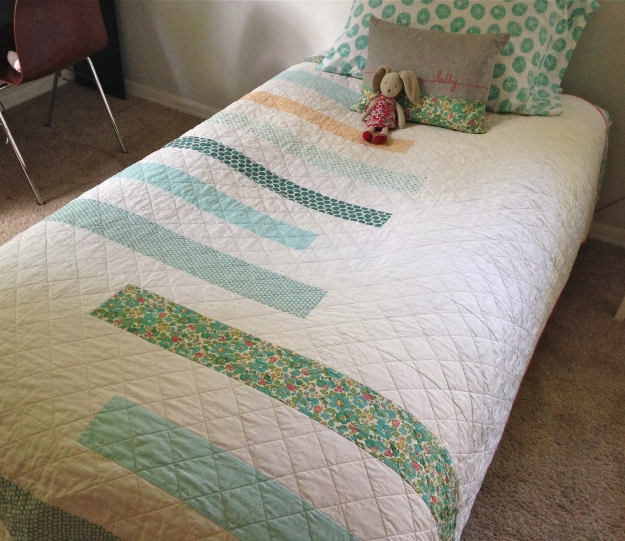 Simple stripes quilt finished August 2014