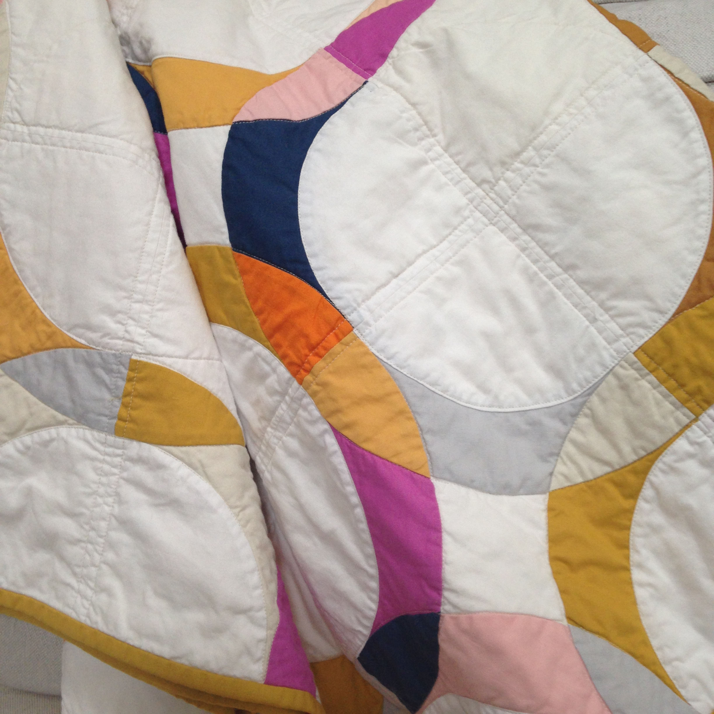 Finished wedding ring quilt Brigit Gail